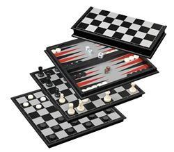 Schaak/Dam/Backgammon Kassette Veld 37 mm, Koningshoogte 66 mm