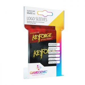 Keyforge Logo Black Sleeves (40)
