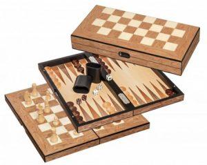 Schaak/Dam/Backgammon Kassette Veld 40mm Koningshoogte 76mm