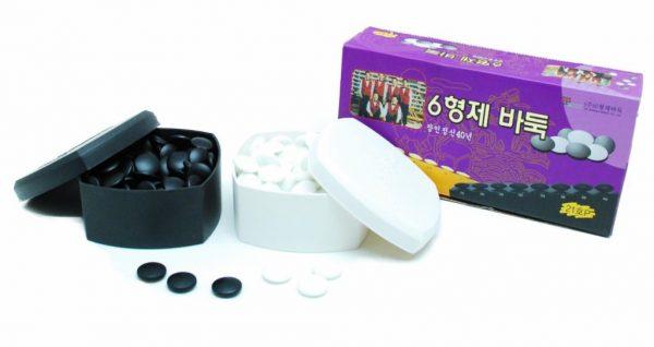 Go-stenenset glas wit/zwart (20-7mm, 2x160 stuks)